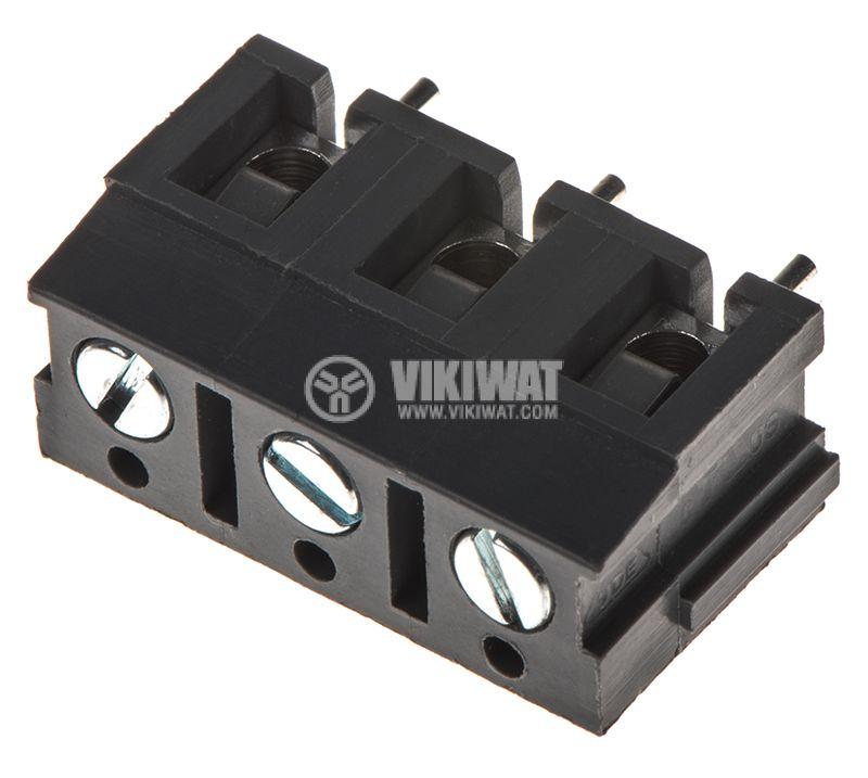 PCB терминален блок с изолационни прегради, 3 пина, 24A, за печатен монтаж - 2