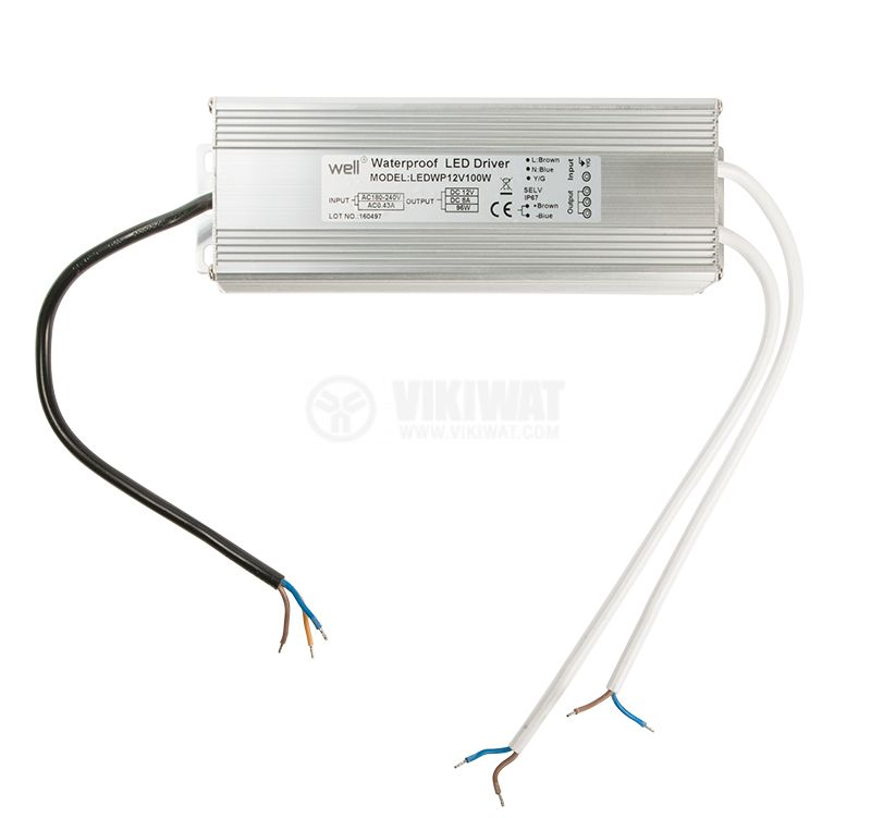 LED power supply VSP120-12, 12VDC, 10A, 120W, waterproof - 4