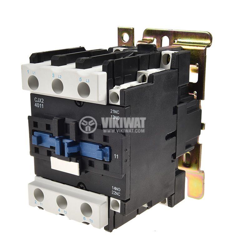Contactor, three-phase, coil 110VAC, 3PST - 3NO, 40A, CJX2-D40, NO+NC - 1