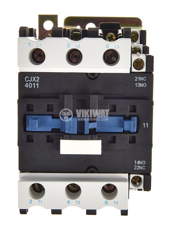 Contactor, three-phase, coil 110VAC, 3PST - 3NO, 40A, CJX2-D40, NO+NC - 5