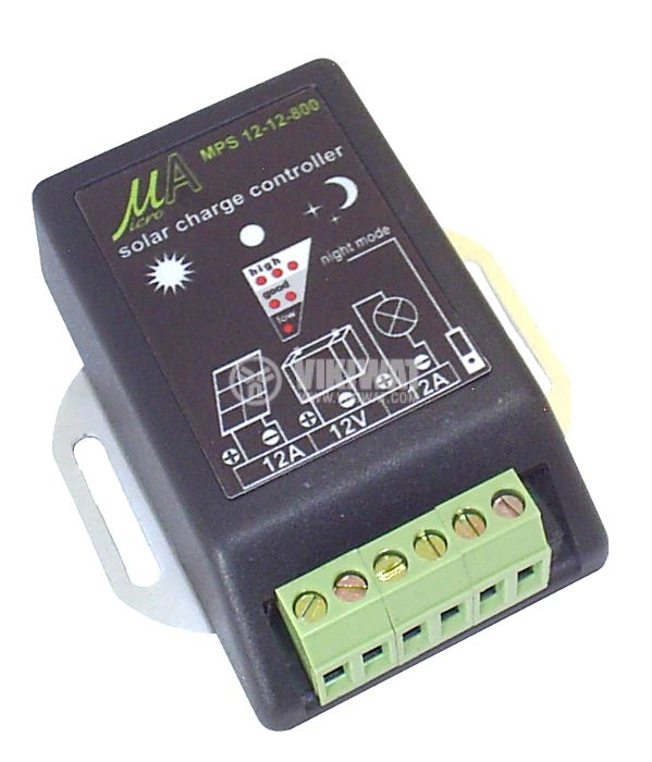Solar Charge Regulator, 12 A / 12 V, MPS12-12-800