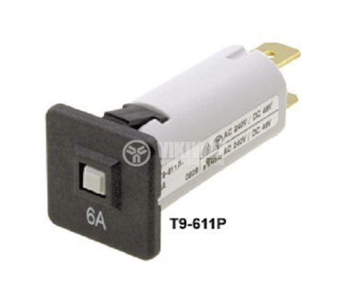 Токов изключвател 240 VAC, 48 VDC, 6 A контакти SPST, SNAP-IN, на панел  - 1