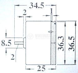 Електрически постояннотоков мотор  EG-500YD-9B, 9 VDC, 2L - 2