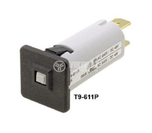 Токов изключвател 240 VAC, 48 VDC, 12 A контакти SPST, SNAP-IN, на панел - 1