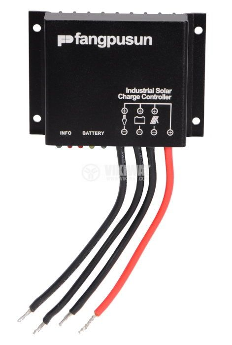 Solar Charge Controller, 10A, 12/24V, waterproof - 1
