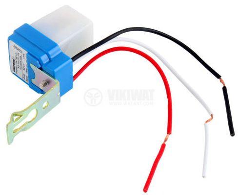 Фотоелектрически ключ, автоматичен, 220VAC, 6А, нерегулируем