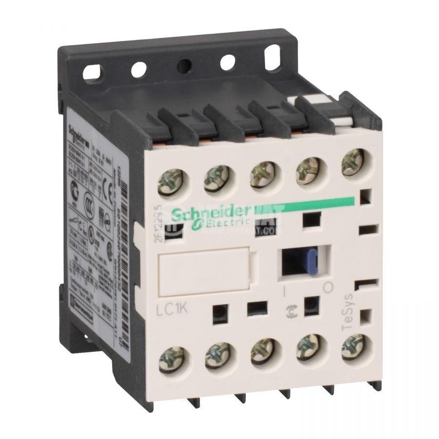 Контактор, трифазен, бобина 220VAC, 3PST - 3NO, 12A, LC1K1201M7, NC, Schneider Electric - 1