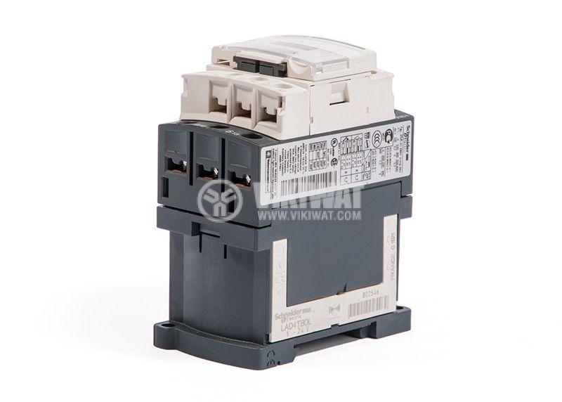 Contactor, LC1D09BD, 3P, 9A, 24VDC, 2.2kW, 4kW, NO + NC - 2