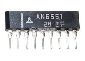 Интегрална схема AN6551, Dual Operational Amplifier, 9-pin SIL