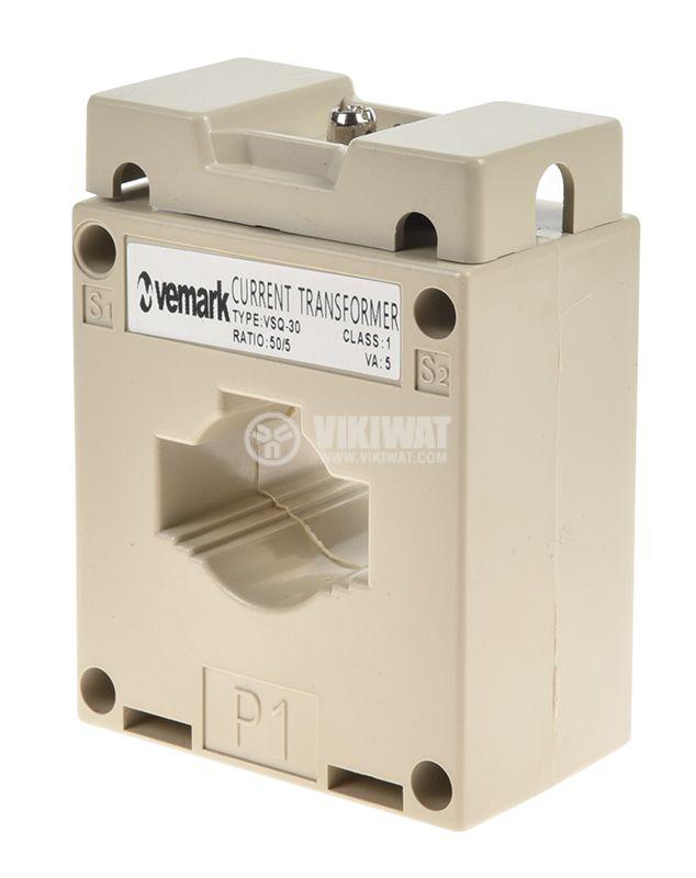 Токов трансформатор VSQ-30, 50/5А - 1