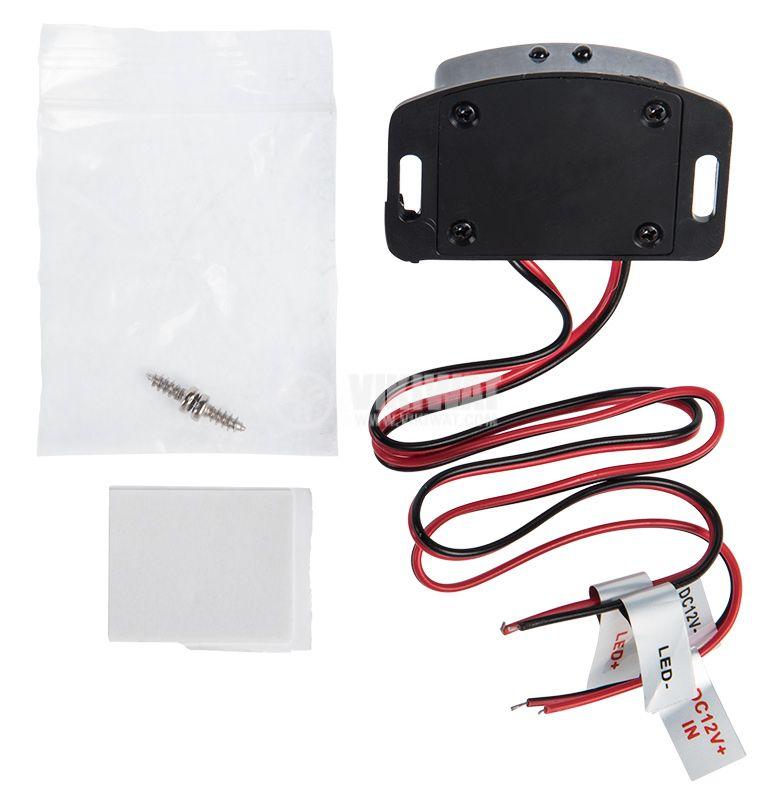 PIR шалтер за LED осветление, 12VDC, 24W, 10°, 0.05m, MSB - 3