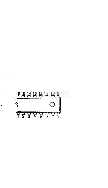 Интегрална схема BA1350 FM STEREO MULTIPLEXER; DIP16 - 2