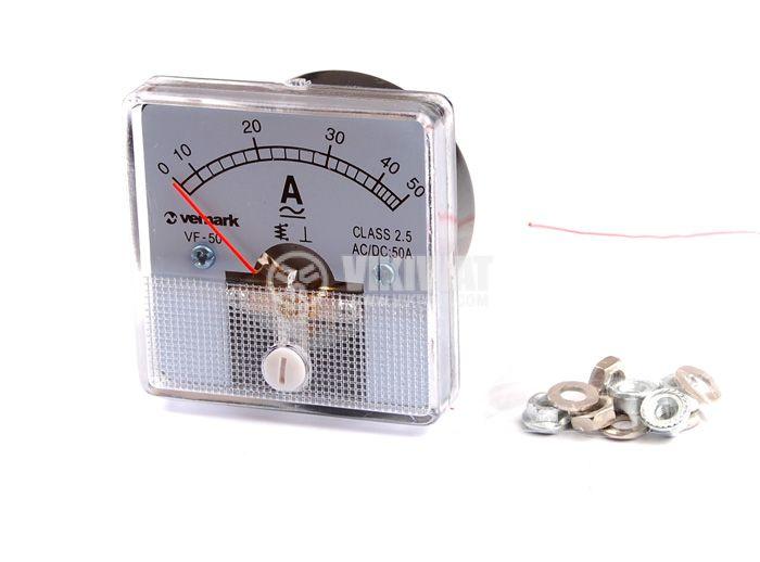 Амперметър 0/10-50 A, AC/DC, VF-50, директен