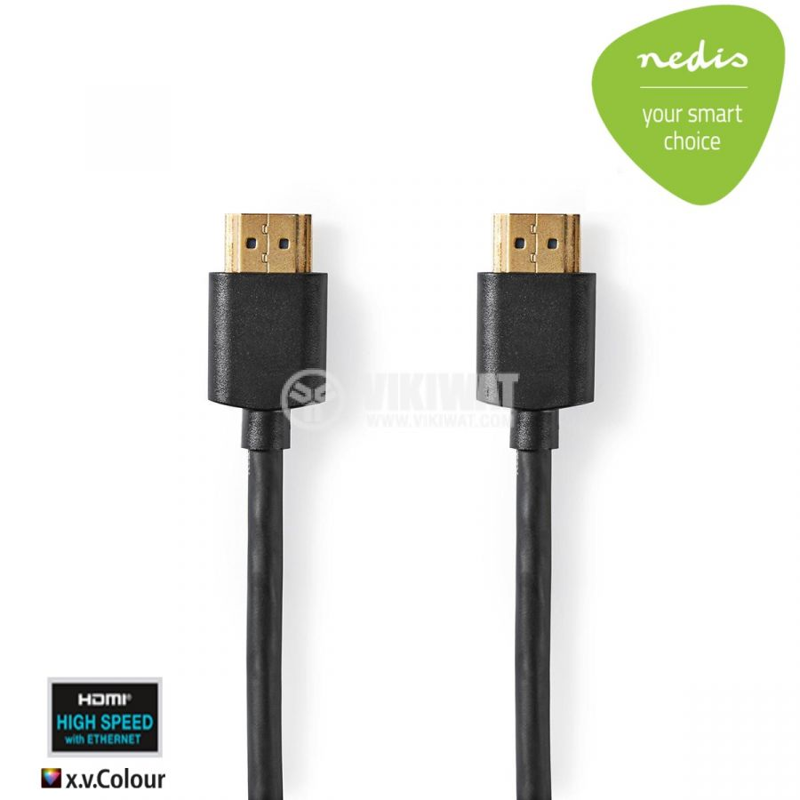 HDMI cable male/male high resolution NEDIS 2 m cord lenght - 1