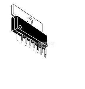 HA13118- интегрална схема; 18 W BTL Audio Power Amplifier; SP15 TA
