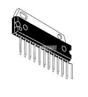 HA13154 - интегрална схема; 15 W × 4-Channel BTL Power IC; SP-23TE