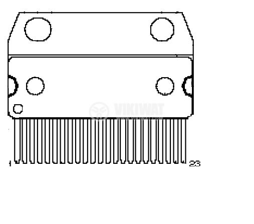 HA13157 - интегрална схема; 33 W 4-Channel BTL Power IC; SP-23TE