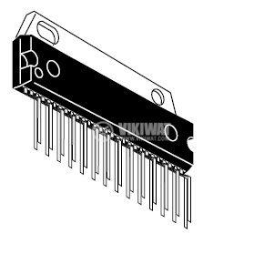 HA13158 - интегрална схема; 34 W 4-Channel BTL Power IC; SP-23TE