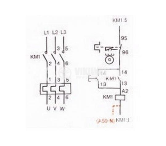 Motor Starter VCX2-09,  380 VAC, 9 A, 4-6 A - 7
