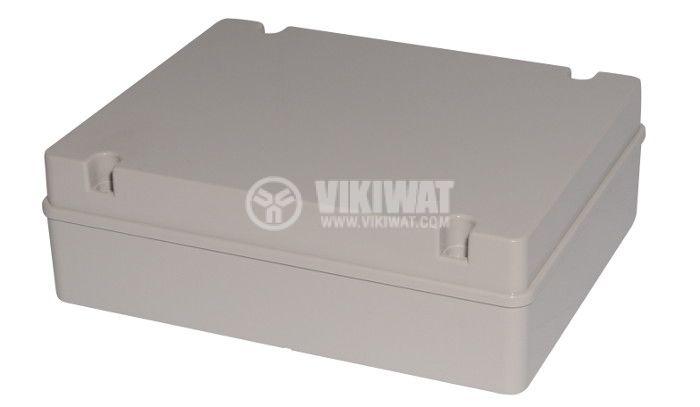 Plastic box, VB-AG-3038, 380x300x120mm, IP66, grey, outdoor installation - 1