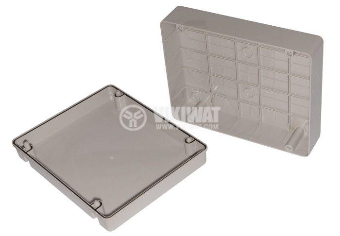 Plastic box, VB-AG-3038, 380x300x120mm, IP66, grey, outdoor installation - 2