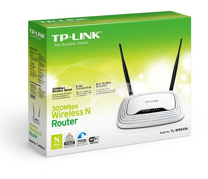 Безжичен рутер TP-LINK, TL-WR841N, 300Mbps - 4