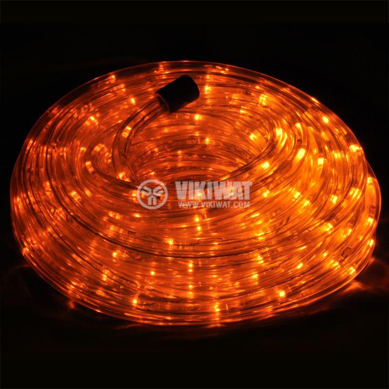 LED hose, yellow , 24LED / m, 10m, 19.2Wmax, 220VAC, IP44, waterproof - 1