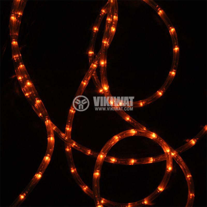 LED hose, yellow , 24LED / m, 10m, 19.2Wmax, 220VAC, IP44, waterproof - 4