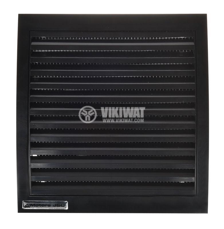 Bathroom fan, Ф120mm with valve, 220VAC, 18W, 150m3 / h, MM120 with internal rotor, square, black - 2