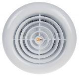 Вентилатор за баня, Ф100mm с клапа, 220VAC, 16W, 60m3/h, ММ100 с вътрешен ротор, кръгъл, бял