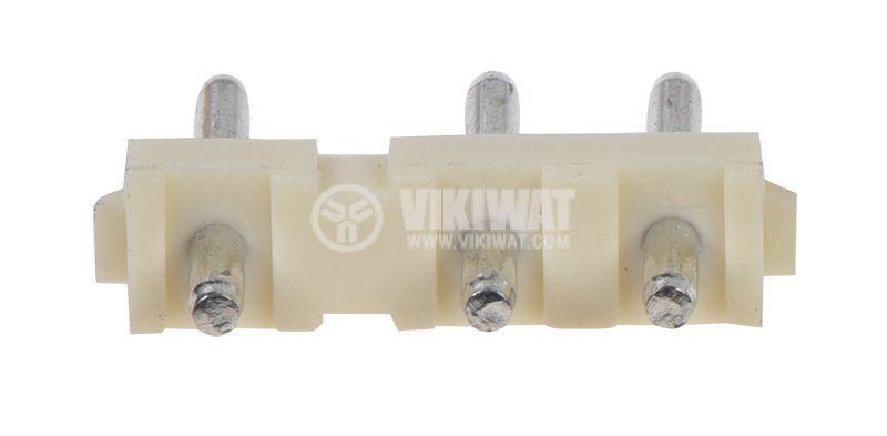 Конектор за обемен монтаж мъжки, VF75006-3А, 3 пина - 3