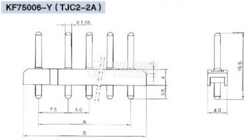 Конектор за обемен монтаж мъжки, VF75006-3А, 3 пина - 4