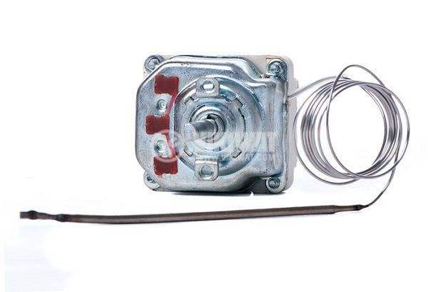 Three pole thermostat, capillary from +30 °C to + 90 °C, 3NC, 16 A / 380 VAC  - 1