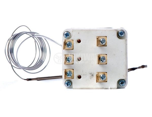Three pole thermostat, capillary from +30 °C to + 90 °C, 3NC, 16 A / 380 VAC  - 2