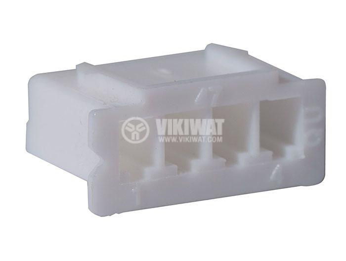 Connector female, VF25002-4Y, 4 pins - 2