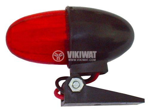 Автомобилна лампа / габарит 12VDC / 24VDC червен