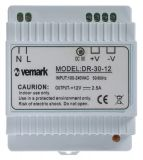 Switching power supply for DIN rail 12VDC, 2.5A, 30W, VDR30-12