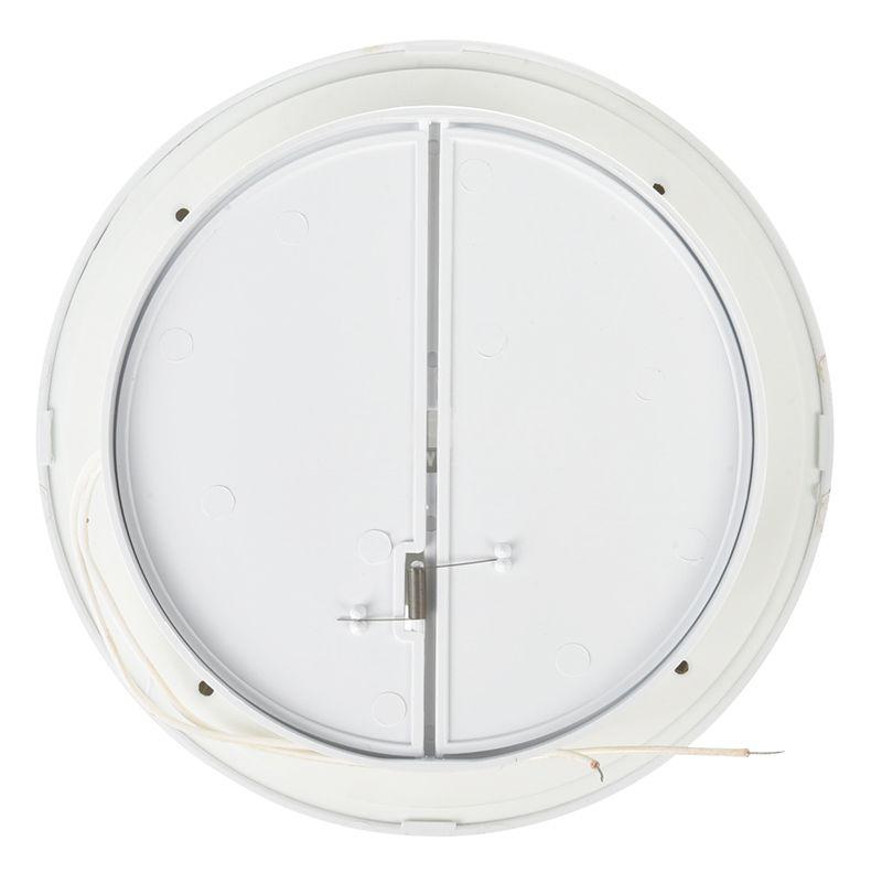 Bathroom fan, Ф120mm with valve, 220VAC, 18W, 150m3 / h, MM120 with internal rotor, round, white - 3