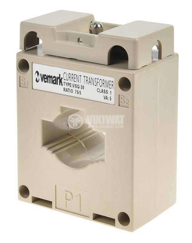 Токов трансформатор VSQ-30, 75/5А - 1