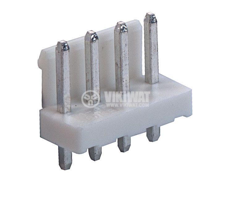Конектор за печатен монтаж мъжки, VF39601-4A, 4 пина - 1