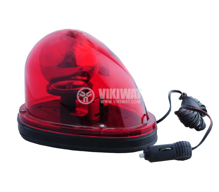 Rotating beacon signal, TR 501, 12 VDC, 55 W, red