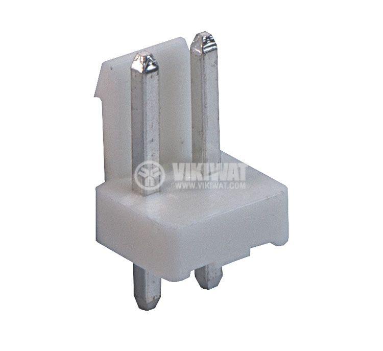 Конектор за печатен монтаж мъжки, VF39601-2A, 2 пина - 1