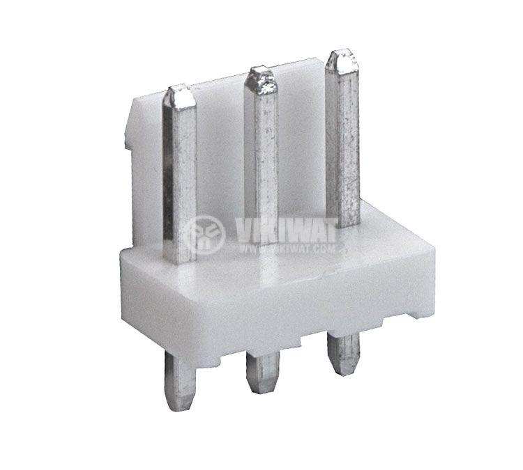Конектор за печатен монтаж мъжки, VF39601-3A, 3 пина - 1