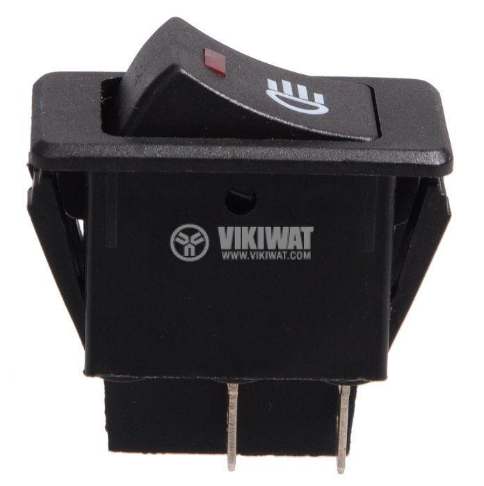 Rocker Switch ASW-17, 12VDC, 2xSPST  - 1