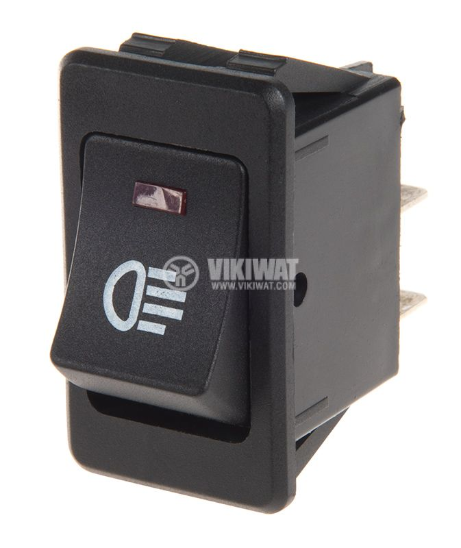 Rocker Switch, 2-position, OFF-ON, 35A/12VDC, hole size 35x21mm - 1