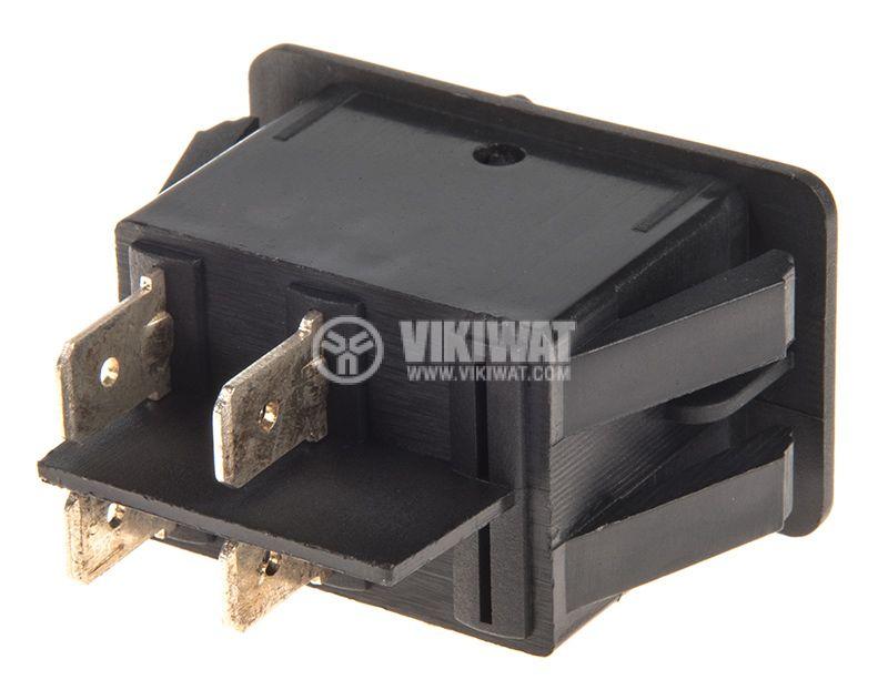 Rocker превключвател, 2 позиции, OFF-ON, 35A/12VDC, отвор 35x21mm - 3
