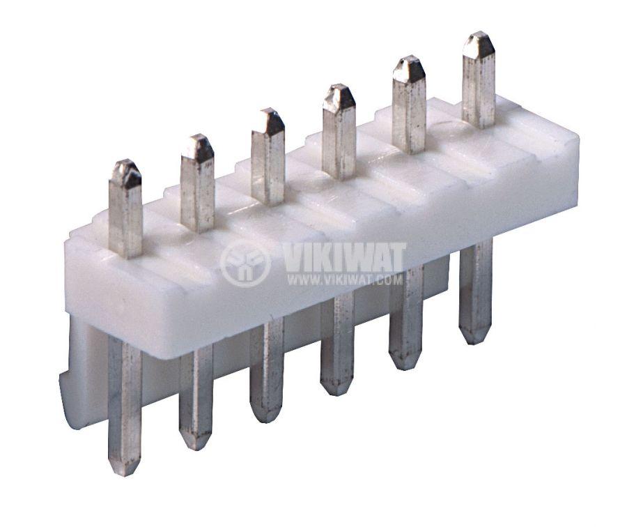 Конектор за печатен монтаж мъжки, VF39601-6A, 6 пина - 1
