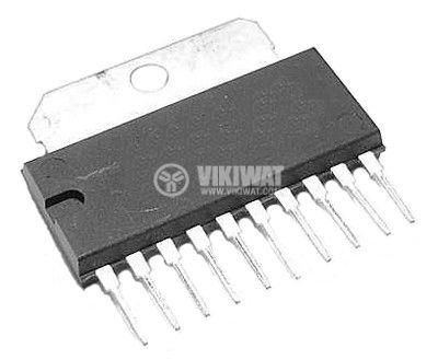 Integrated Circuit TA7208P, 2W Audio power amplifier, SIP10