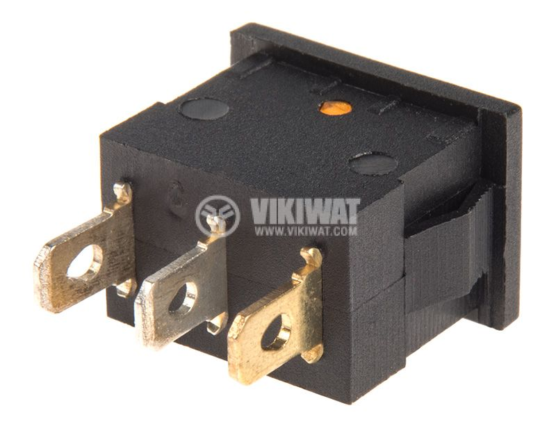Rocker Switch, 2-position, OFF-ON, 15A/12VDC, hole size 19x13mm - 3