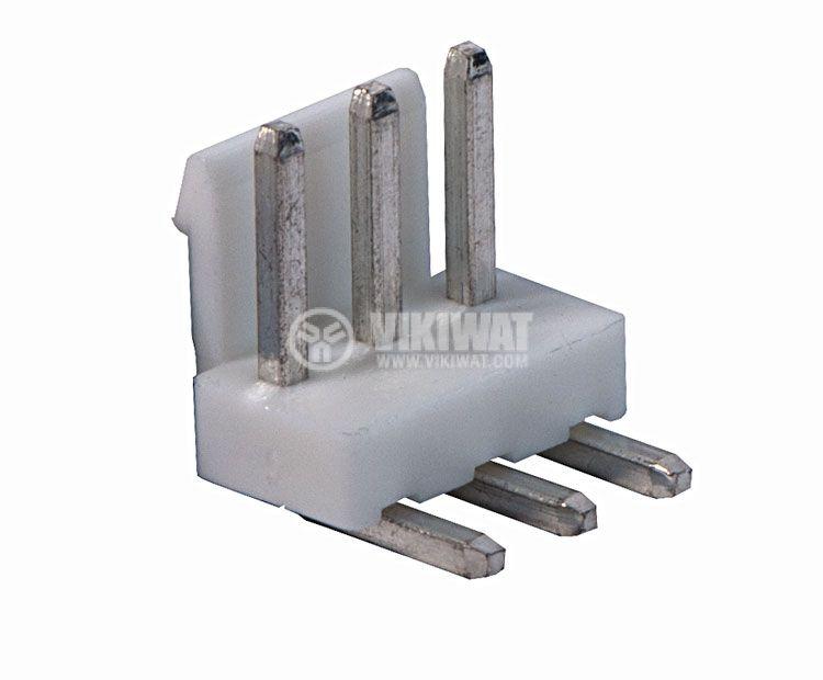 Конектор за печатен монтаж мъжки, VF39601-3 WAP,VF39601-3 WAG, 3 пина - 1